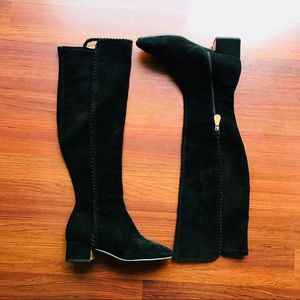 Gentle Souls Emery Over The Knee Black Suede Boot